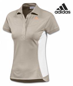 Adidas® Polo Stella McCartney Bege | Tecnologia Climalite®