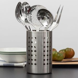 Conjunto De 6 Utensílios De Cozinha Em Aço Inoxidável !