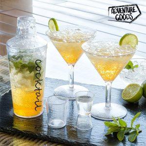 Conjunto de 4 Peças para Preparação de Cocktails Adventure Goods