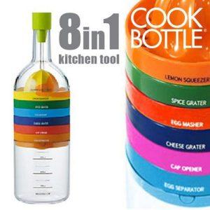 Garrafa com 8 Utensílios de Cozinha | Funcional, Prático e Fácil de Arrumar !