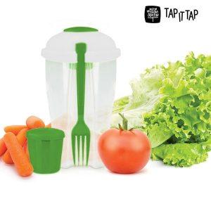 Pack 2 Saladeiras Portáteis Salad to Go | Saladas Sempre Frescas!