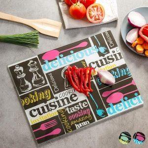 Tábua de cozinha Collage | Design Moderno | Disponível em 2 Modelos Enviados de Forma Aleatória!