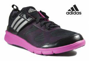Adidas® Sapatilhas de Treino Niya Pretas e Rosa | Sola Fitfoam!