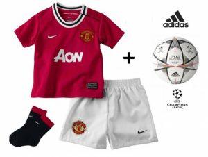 Adidas® Bola Oficial + Nike® Conjunto Manchester United Criança