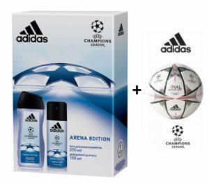 Adidas Bola Oficial + Adidas Conjunto Perfume 50ml e Desodorizante em Spray 150ml!