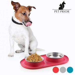 Comedero y bebedero antideslizante para mascotas Pet Prior | Disponible en 3 colores!