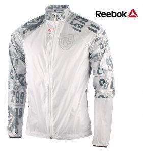 Reebok® Casaco Corta Vento Running Branco