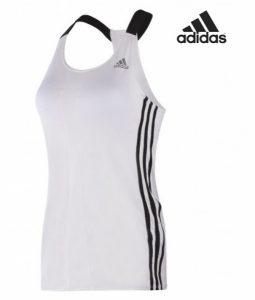 Adidas® Caveada Branca Com Sutiã Incorporado   Tecnologia Climalite®