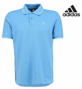 Adidas® Polo Essentials Azul | Tecnologia Climalite® Cotton