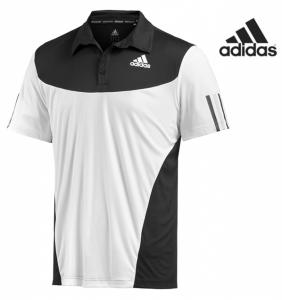 Adidas® Polo BTeam Branco | Preto | Tecnologia Climacool®