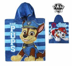 Poncho-Toalha com Capuz Azul Paw Patrol | Produto Licenciado