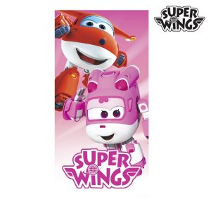 Toalha de Praia Rosa Super Wings | Produto Licenciado!