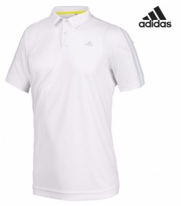 Adidas® Polo Essentials 3 Stripes Branco | Tecnologia Climalite®