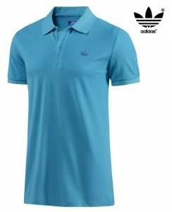 Adidas® Polo 3 Stripes Bold Aqua Azul