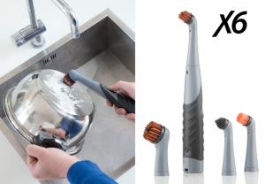 Escova Eléctrica Limpeza Domestica de Precisão Turbo Brush X6 !