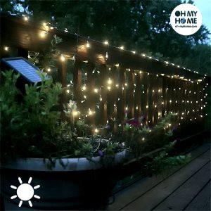 Grinalda Solar Exterior 7 Metros Com 50 luzes Led |  My Home !