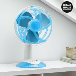 Ventoinha de Mesa Azul Com Pás de Borracha | Mais Segura | Ideal para Lares Com Crianças !