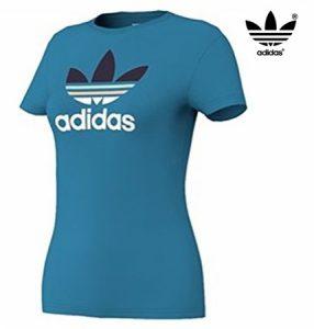Adidas® T-Shirt Trefoil Tee Azul