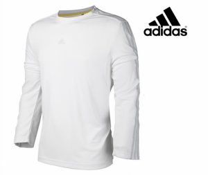 Adidas® Camisola Adidas Performance | Branca e Cinza | Tecnologia Climalite®