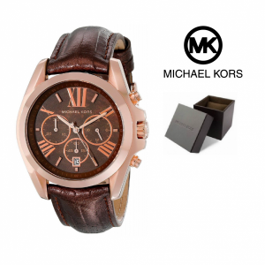 Relógio Michael Kors® Brown Snake Embossed Leather Strap | 10ATM