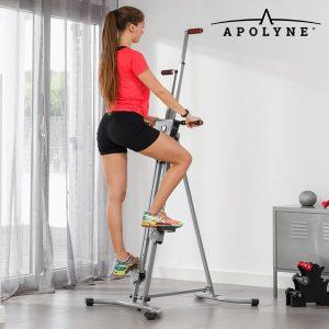 Maquina de Escalada Vertical de Fitness com Vídeo de Exercícios