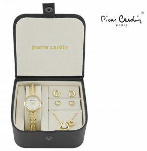Conjunto Pierre Cardin® Hearts of Love | Relógio | Colar | 4 Brincos