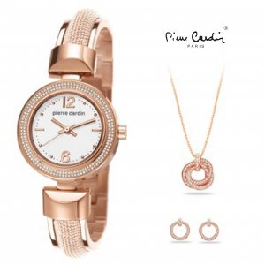 Conjunto Pierre Cardin® Classic Charm Rose Gold   Relógio   Colar