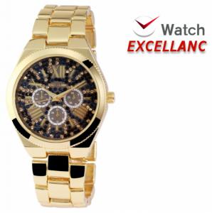 Relógio Excellanc Senhora com Pedras | Dourado e Preto