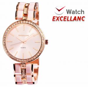 Relógio Excellanc Senhora | Rose Gold e Rosa