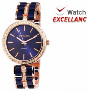 Relógio Excellanc Senhora | Rose Gold e Azul