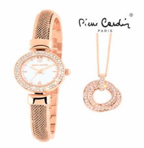 Conjunto Pierre Cardin®  Classic Charm Rose Gold | Relógio | Colar