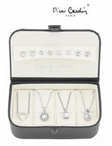 Conjunto Pierre Cardin® Silver Versatile | 4 Colares | 8 Brincos