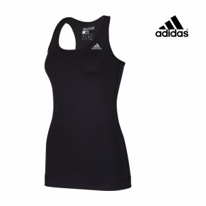 Adidas® Caveada Perfomance Tank Solid Preta | Tecnologia Climalite®