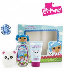 LaLaLoopsy® Mittens Fragrance | Conjunto de Eau De Toilette Spray 100ml |Gel de Banho 75ml | Acessórios para Cabelo !
