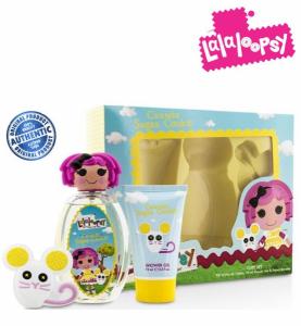 LaLaLoopsy® Crumbs Sugar Cookie | Conjunto de Eau De Toilette Spray 100ml |Gel de Banho 75ml | Acessórios para Cabelo !
