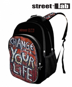 Street Lab® | Mochila Preta Change Your Life
