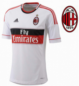 Adidas® Oficial AC Milan Branca Logo Bordado /Climacool® Ventilada