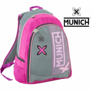 Munich | Gray Backpack | Pink 43cm