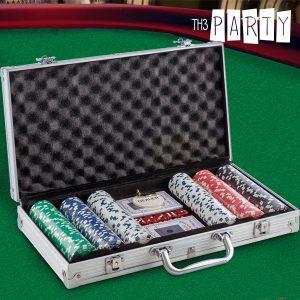 Jogo de Poker com Mala de Luxo Th3 Party | 300 Fichas Numeradas