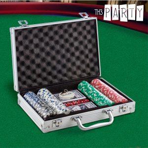Jogo de Poker com Mala de Luxo Th3 Party | 200 Fichas Numeradas