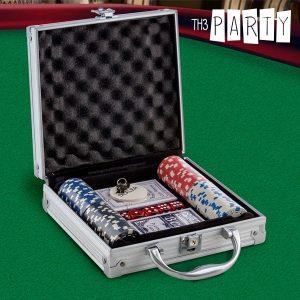 Jogo de Poker com Mala de Luxo Th3 Party | 100 Fichas Numeradas