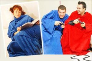 Manta com Mangas | Conforto & Aconchego da Cabeça aos Pés Vermelha ou Azul