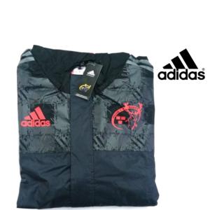 Adidas® Camisola Impermeável Munster Rugby Preto com Capuz