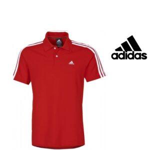 Adidas® Polo Performance Essentials Vermelho | Tecnologia Climalite®