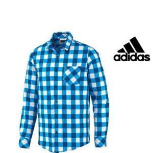 Adidas® Neo Camisa Xadrez Azul | Branco | 100% Algodão