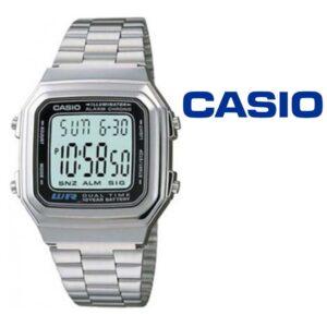 Relógio Casio®  A178WEA-1AES Prata