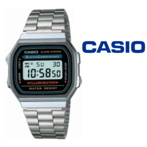 Relógio Casio® 168WA-1WCR Prata