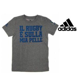 Adidas® Tshirt Itália Rugby Grey Junior