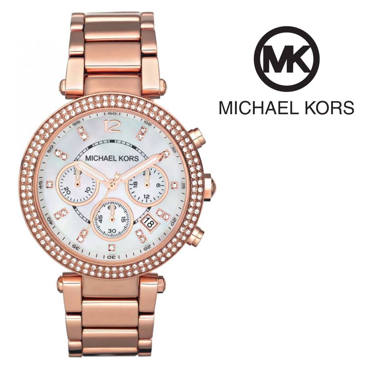 Relógio Michael Kors® Parker Chronograph Rose Gold Tone - You Like It bb5f4e3f80