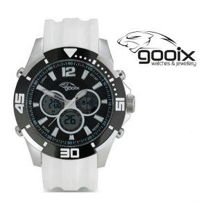 Relógio Gooix® Buzzer Cronógrafo Digital Branco | 10ATM